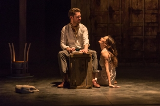 My Brilliant Friend Part 1. Toby Wharton (Nino) and Catherine McCormack (Lila). Photo credit Marc Brenner (10)