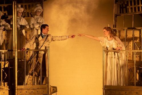 Peter Gijsbertsen (Tamino) and Gemma Summerfield (Pamina) in The Magic Flute. Scottish Opera 2019. Credit James Glossop (3)
