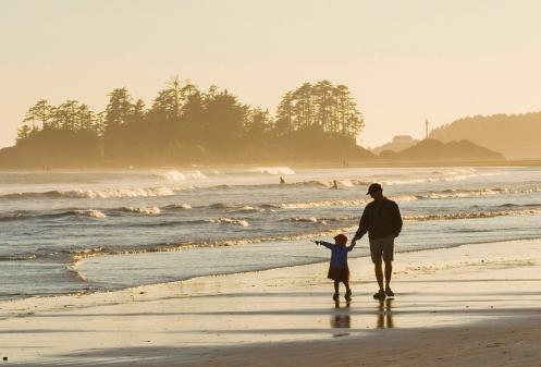 SmellPurplefather-daughter-beach-walk